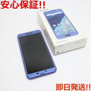 アンドロイドワン(Android One)の美品 Y!mobile Android One X4 ブルー(スマートフォン本体)
