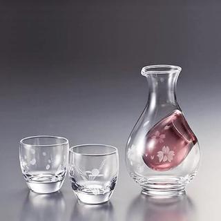 トウヨウササキガラス(東洋佐々木ガラス)の冷酒セット 雪花月(グラス/カップ)