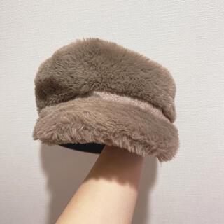 アースミュージックアンドエコロジー(earth music & ecology)のモコモコ帽子(ハンチング/ベレー帽)
