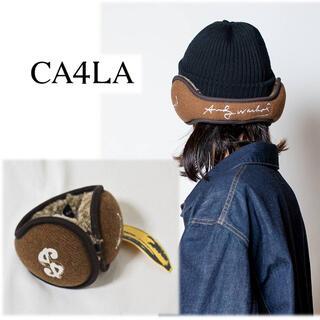 カシラ(CA4LA)の 《CA4LA》 新品 アンディ・ウォーホルコラボ!!バナナ刺繍 イヤーマフ 茶(イヤマフラー)
