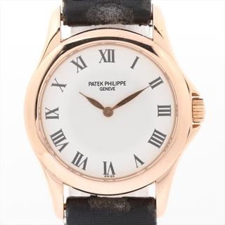 パテックフィリップ(PATEK PHILIPPE)のパテックフィリップ カラトラバ 750×革   レディース 腕時計(腕時計)