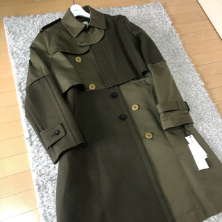 サカイ(sacai)のsacai  cotton gabardine wool Melton coat(トレンチコート)