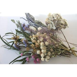 ブルー系花材セットDハーブ.ユーカリ.千日紅など(ドライフラワー)