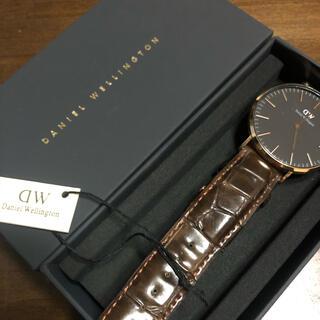 ダニエルウェリントン(Daniel Wellington)のDANIEL WELLINGTON 腕時計 black (レザーベルト)