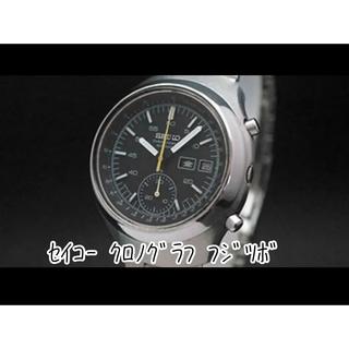 セイコー(SEIKO)の78年製 セイコー シングルクロノグラフ フジツボ型 黒文字盤 オリジナル(腕時計(アナログ))