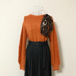 ビッキー(VICKY)のVICKY スカーフ オレンジ ニット セーター トップス M(ニット/セーター)