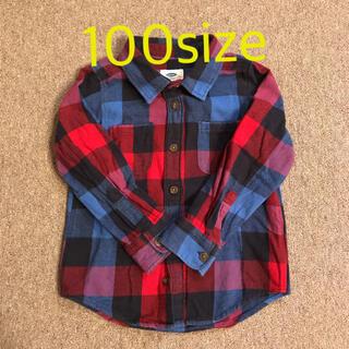 オールドネイビー(Old Navy)の【OLD NAVY】チェックシャツ 100size 使用回数少ない(Tシャツ/カットソー)