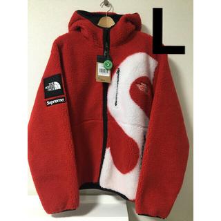 Supreme - Supreme S logo hooded fleece jacket 赤 L