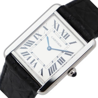 カルティエ(Cartier)のカルティエ Cartier タンクソロLM 腕時計 メンズ【中古】(レザーベルト)