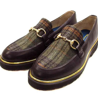 オリエンタルトラフィック(ORiental TRaffic)のオリエンタルトラフィック パンプス ローファー チェック ブラウン(ローファー/革靴)