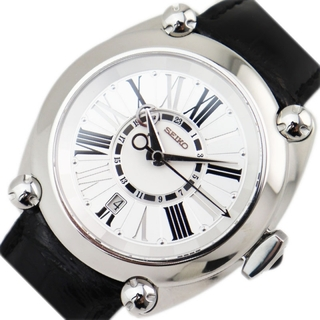 セイコー(SEIKO)のセイコー SEIKO ガランテ メカニカル GMT 腕時計 メンズ【中古】(レザーベルト)