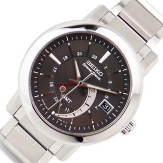セイコー(SEIKO)のセイコー SEIKO スプリングドライブ GMT 腕時計 メンズ【中古】(金属ベルト)