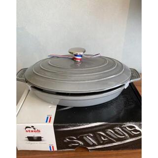 ストウブ(STAUB)のストウブ 鍋 オーバルホットプレート ラウンド 23cm グラファイトグレー(鍋/フライパン)