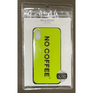 【新品未使用】NO COFFEE iPhoneX/XS用ケース ネオンカラー