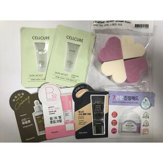 ハンスキン等韓国化粧品サンプル、スポンジ
