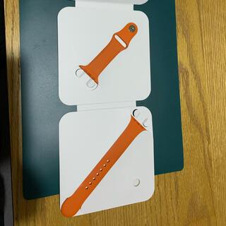 アップル(Apple)のApple Watch 44mm HERMES バンド オレンジ(ラバーベルト)