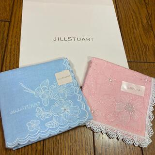 ジルスチュアート(JILLSTUART)の新品 ジルスチュアート ハンカチ ブルーとピンク(ハンカチ)