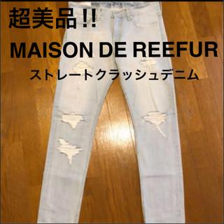 メゾンドリーファー(Maison de Reefur)の送料込★メゾンドリーファー ストレートクラッシュデニム(デニム/ジーンズ)
