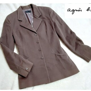 Agnes b. PARIS ジャケット テーラード カシミヤ ラム素材(テーラードジャケット)
