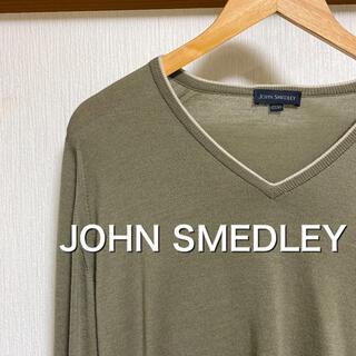 ジョンスメドレー(JOHN SMEDLEY)の【美品】JOHN SMEDLEY  Vネックニット メリノウール(ニット/セーター)