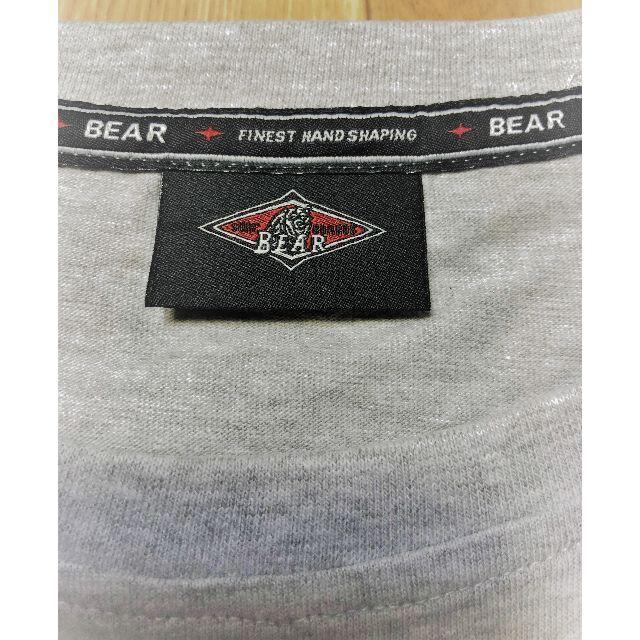 Bear USA(ベアー)のベアー・サーフボード ジャストロゴ Tシャツ Sサイズ【グレー】 メンズのトップス(Tシャツ/カットソー(半袖/袖なし))の商品写真