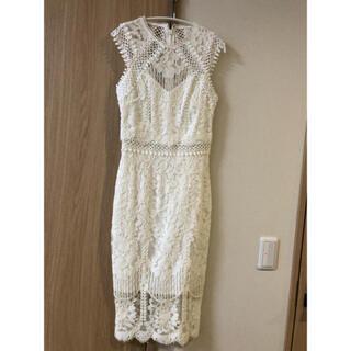 リプシー(Lipsy)のリプシー ホワイトドレス(ミディアムドレス)
