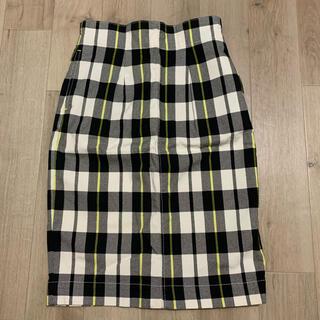 スライ(SLY)のチェック柄タイトスカート(ひざ丈スカート)