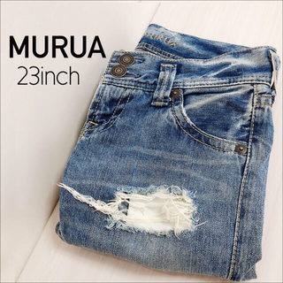 ムルーア(MURUA)のMURUA クラッシュデニム ボトム♡マウジー ロデオクラウンズ SLY(デニム/ジーンズ)