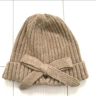 スタディオクリップ(STUDIO CLIP)のスタディオ クリップ バックリボン ニットワッチ ニット帽(ニット帽/ビーニー)