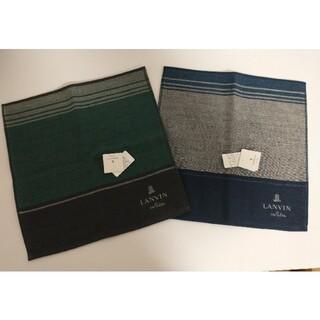 ランバンオンブルー(LANVIN en Bleu)の新品 LANVINenBlew タオルハンカチ2枚セット(ハンカチ/ポケットチーフ)