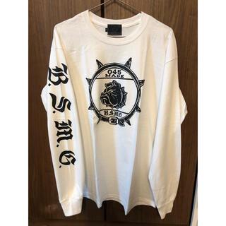 キャリー(CALEE)のBULL ORIGINAL ブルオリジナル 長袖 ロンT 白(Tシャツ/カットソー(七分/長袖))