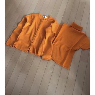 ビアッジョブルー(VIAGGIO BLU)のビアッジョブルー★カーディガン アンサンブルニット オレンジ(アンサンブル)