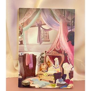 Disney - ディズニー プリンセス展 キャンバスアーラプンツェル アート 絵画 エッチング