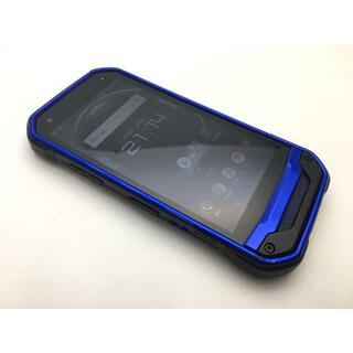 キョウセラ(京セラ)のSIMフリー美品au京セラ TORQUE G03 KYV41 ブルー 39(スマートフォン本体)