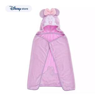 ディズニー(Disney)のミニーマウス ブランケット フード ポンチョ(ベビーカー用アクセサリー)