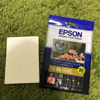 エプソン(EPSON)のエプソン 写真用紙 L判(光沢)50枚・2L判(絹目調)18枚(その他)