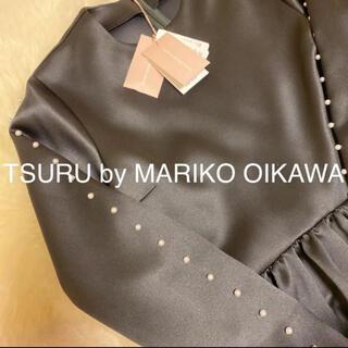 ツルバイマリコオイカワ(TSURU by Mariko Oikawa)の新品タグ付き♡ツルバイマリコオイカワ♡パールペプラムトップス(シャツ/ブラウス(長袖/七分))