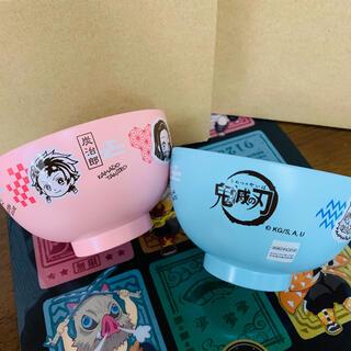 シュウエイシャ(集英社)の鬼滅の刃 キャラクター 汁椀 ピンク & ブルー 2点セット(キャラクターグッズ)