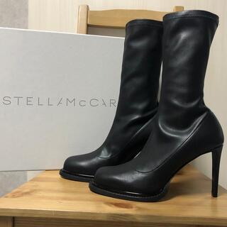 ステラマッカートニー(Stella McCartney)の新品 未使用 ステラマッカートニ ブーツ シューズ 黒 ブラック ステラ(ブーツ)