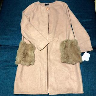 スコットクラブ(SCOT CLUB)のグランターブル・ラビットファーポケット取り外しコート♡スコットクラブ(毛皮/ファーコート)