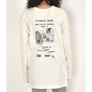 ダブルクローゼット(w closet)のwcloset  フォトプリントロンTee(Tシャツ(長袖/七分))