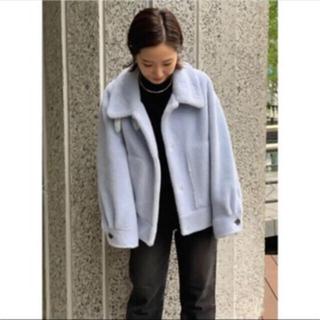 スタニングルアー(STUNNING LURE)のスタニングルアー エコムートンショートジャケット ブルー 2(ムートンコート)