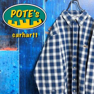 カーハート(carhartt)の【カーハート】レザーロゴ入りポケットワークチェックシャツ(シャツ)