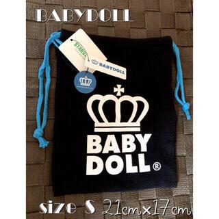 ベビードール(BABYDOLL)のBABYDOLL/ベビードール/王冠ロゴ/巾着/キンチャク/Sサイズ /黒×青(その他)