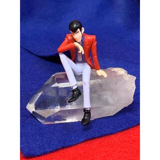 天然水晶柱 × ルパン3世ミニフィギュア(キャラクターグッズ)