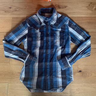 ティーエムティー(TMT)のT.M.T ブルー ビッグホリデー チェックシャツ 長袖シャツ S(シャツ)