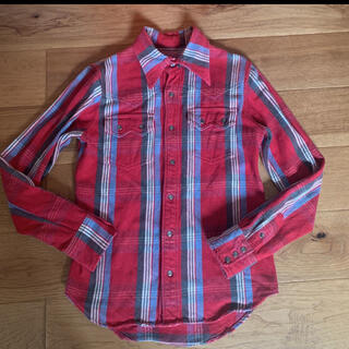 ティーエムティー(TMT)の【美品】T.M.T 赤 チェックシャツ 長袖シャツ S(シャツ)