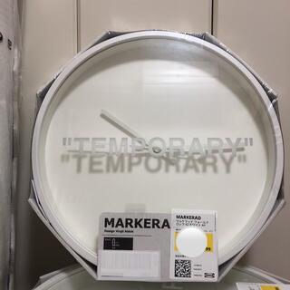 イケア(IKEA)のIKEA MARKERAD ウォールクロック 時計 マルケラッド オフホワイト(掛時計/柱時計)