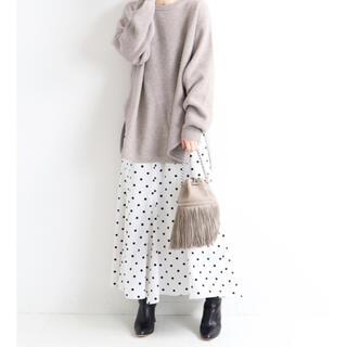 イエナ(IENA)のiena ドットプリントランダムフレアスカート36サイズ(ロングスカート)