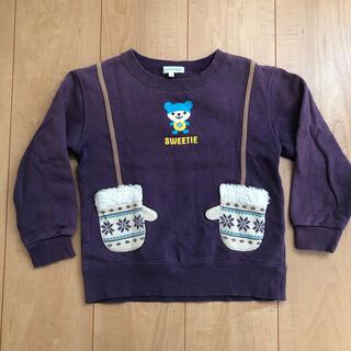 サンカンシオン(3can4on)の3can4on  トレーナー 紫 手袋ポケット 110cm(Tシャツ/カットソー)